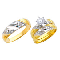 Yellow / White Gold Trio Set - TC155