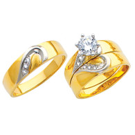 Yellow / White Gold Trio Set - TC151