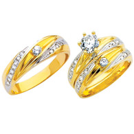 Yellow / White Gold Trio Set - TC149