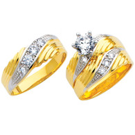 Yellow / White Gold Trio Set - TC145