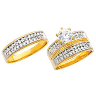 Yellow / White Gold Trio Set - TC223