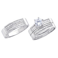 White Gold Trio Set - 14 K - TC229