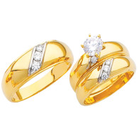 Yellow / White Gold Trio Set - TC209
