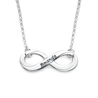 Silver Engraved Infinity Necklace - 0.925 - ANS008