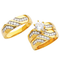 Yellow / White Gold Trio Set - TC205