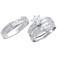 White Gold Trio Set - 14 K - TC203