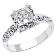 White Gold Engagement Ring - 14K  3.9 gr. - RG59