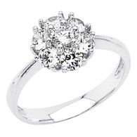White Gold Engagement Ring 14K  3.1 gr. - RG50