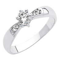 White Gold Engagement Ring - 14K  4.2 gr. - RG42