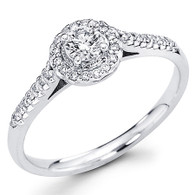 White Gold Engagement Ring - 14K - 0.70 Ct - DRG60