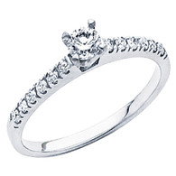 White Gold Engagement Ring - 14K - 0.45 Ct - DRG48