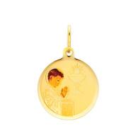 First Communion Gold Pendant - 14 K.  0.9 gr. - PT218