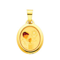 First Communion Gold Pendant - 14 K.  1.1 gr. - PT214