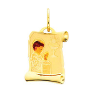 First Communion Gold Pendant 14 K.  0.6 gr. - PT209
