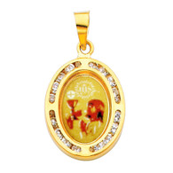 First Communion Gold Pendant - 14 K.  1.0 gr. - PT205