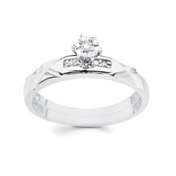 White Gold Engagement Ring 14K  0.09 Ct - DRG13E