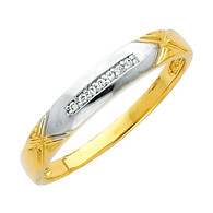 Yellow gold wedding band with Diamonds - 14K  0.05 Ct - DRG14G