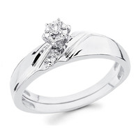 White Gold Engagement Ring 14K  0.08 Ct - DRG12E