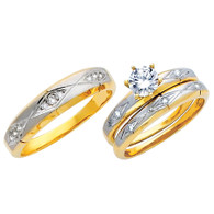Yellow / White Gold Trio Set - TC137