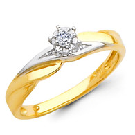 Yellow Gold Engagement Ring - 14K  0.07 Ct - DRG5E