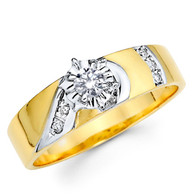 Yellow Gold Engagement Ring - 14K  0.15 Ct - DRG1E