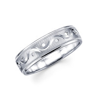 Men's white gold wedding band - BC4-21