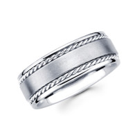 White gold wedding band  - BC1-3