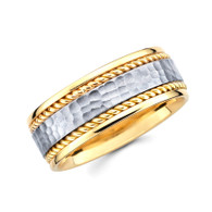 Yellow & White gold wedding band  - BC1-2