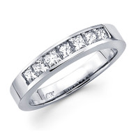 White gold wedding band with diamonds - BD5-14