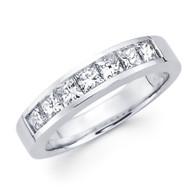 White gold wedding band with diamonds - BD5-13