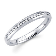 White gold wedding band with diamonds - BD5-10