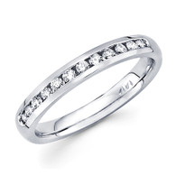 White gold wedding band with Diamonds - 14 K - BD5-9