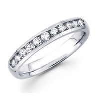 White gold wedding band with diamonds - BD5-8