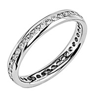 White gold wedding band with diamonds - BD5-4