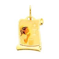 First Communion Gold Pendant - 14 K.  0.6 gr. - PT210
