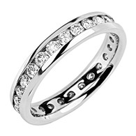 White gold wedding band with diamonds - BD5-1