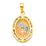 First Communion Gold Pendant - 14 K.  1.3 gr. - PT189