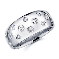 White gold wedding band with diamonds - BD4-17