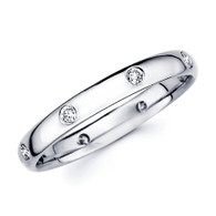 White gold wedding band with diamonds - BD4-15