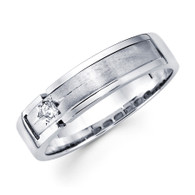 White gold wedding band with diamonds - BD2-15