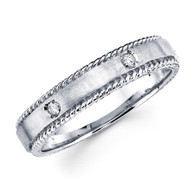 White gold wedding band with diamonds - BD2-11