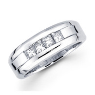 White gold wedding band with diamonds - BD2-2