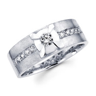 White gold wedding band with diamonds - BD1-6