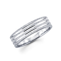 Men's white gold wedding band - BC4-20
