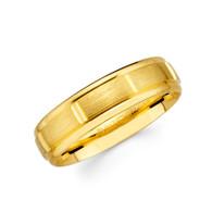 Yellow gold wedding band  - BC2-25