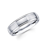 White gold wedding band - BC2-24