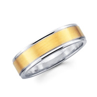 White & yellow gold wedding band - BC1-14