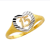 Forever 15 - Yellow Gold Ring with CZ -  1.8 gr - RG667