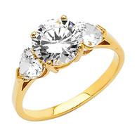 Yellow Gold Engagement Ring - 14 K.  2.9 gr - RG35
