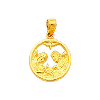 Yellow Gold Baptism Medal - 14 K.  1.3 gr. - PT243